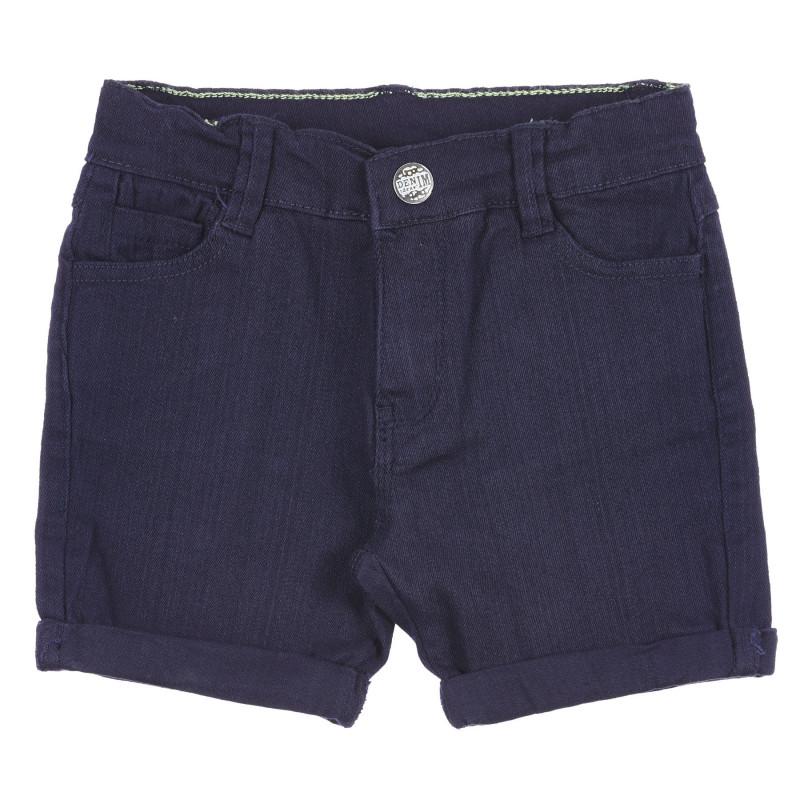 Pantaloni scurți din bumbac - albaștri  239294