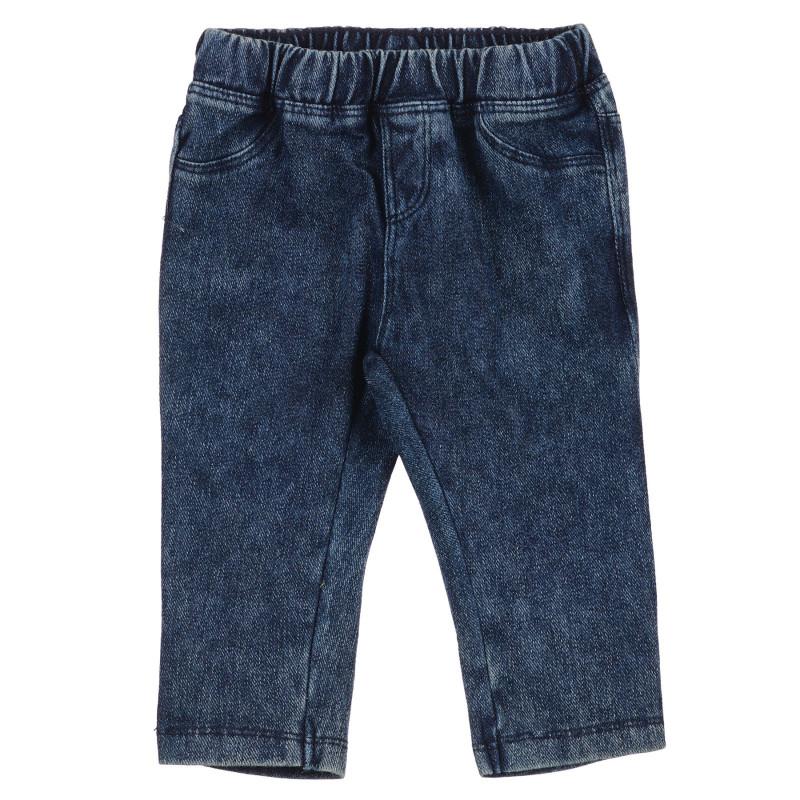 Jeans cu talie elastică pentru bebeluș, albastru  239306
