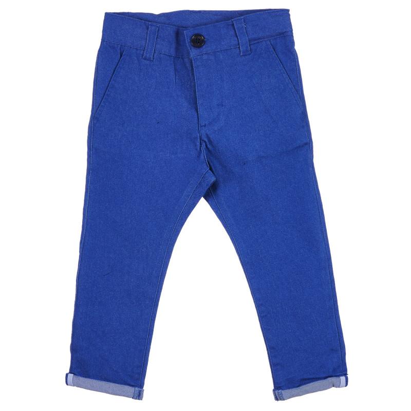 Jeans cu tiv pliat, albastru  239321