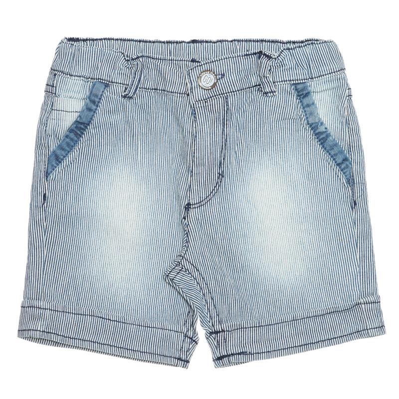 Pantaloni scurți din denim, în albastru deschis  239369