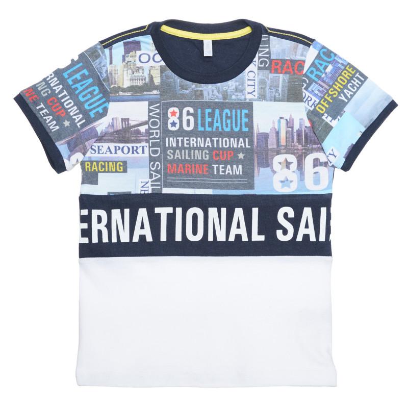 Tricou din bumbac cu imprimeu grafic, multicolor  239373