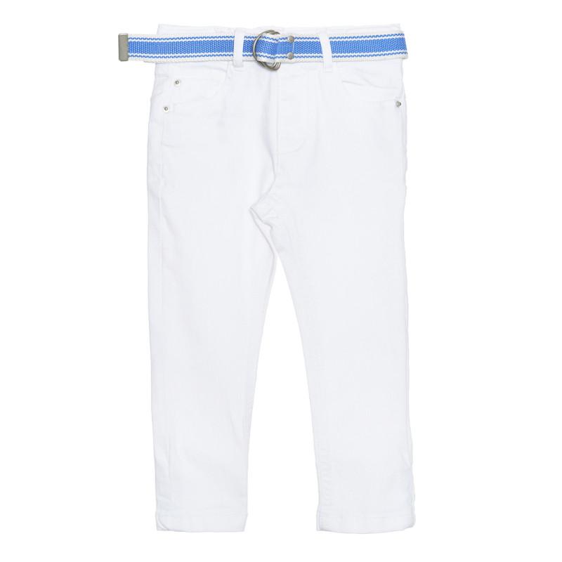 Jeans cu curea, albi  239385