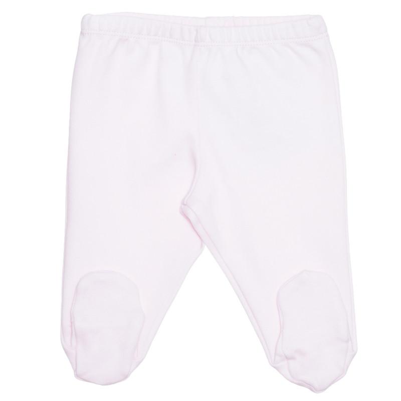 Pantaloni cu picior de bumbac pentru bebeluși, roz  239393