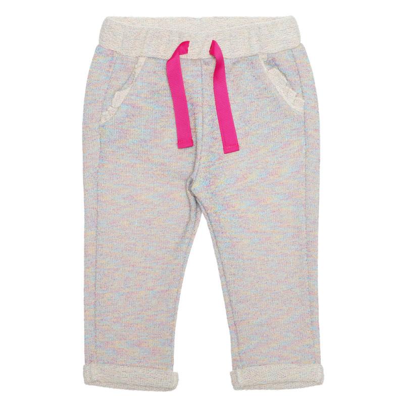 Pantaloni cu șnur roz pentru bebeluș, multicolor  239517