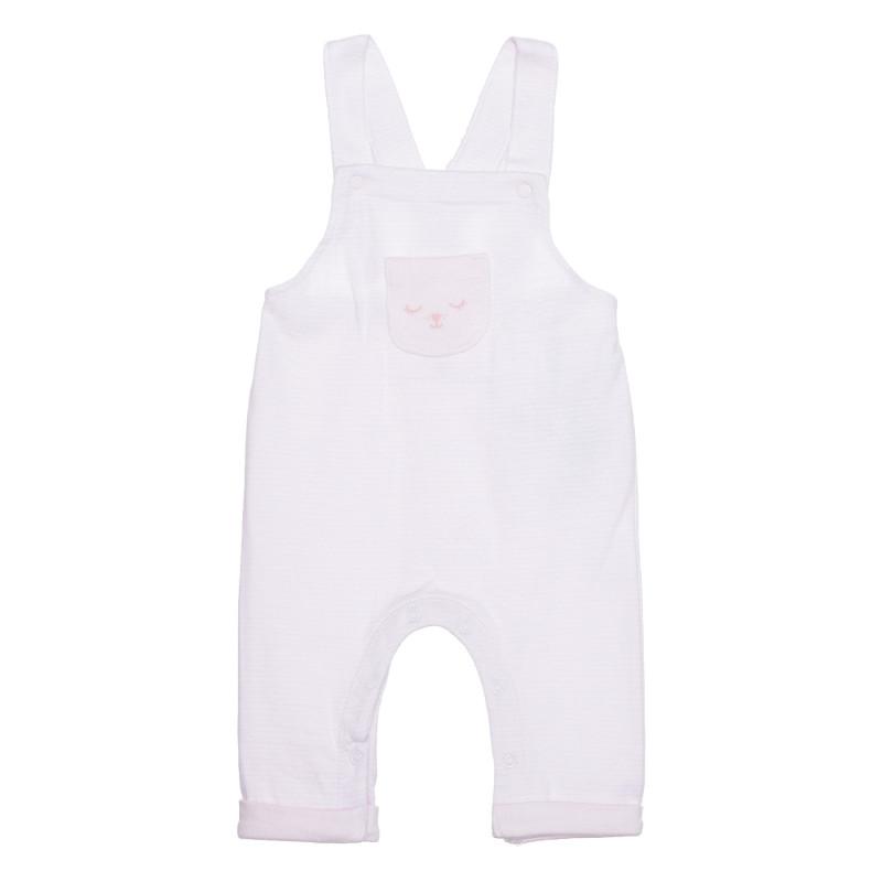 Salopetă din bumbac cu bretele pentru bebeluși, în roz  239533