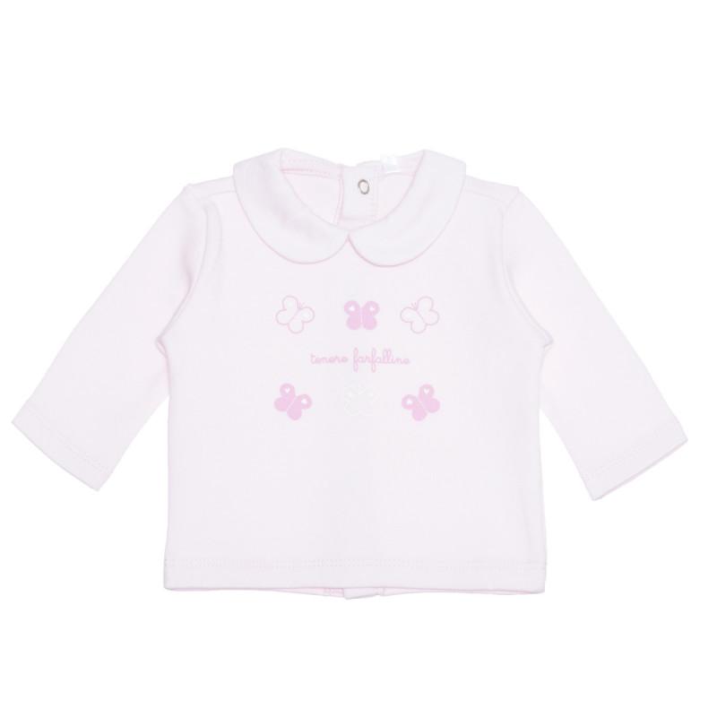 Bluza din bumbac cu guler pentru bebeluși  239537