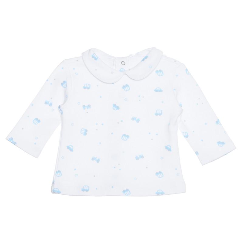 Bluză din bumbac cu guler pentru bebeluși, albă  239544