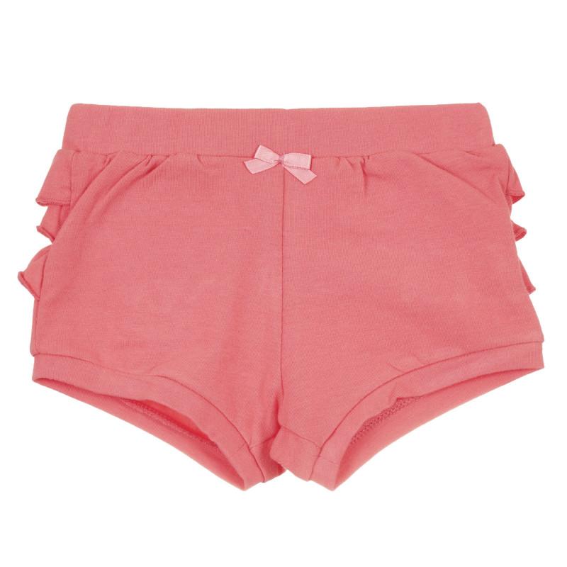 Pantaloni scurți din bumbac cu volane pentru bebeluș, roz  239592