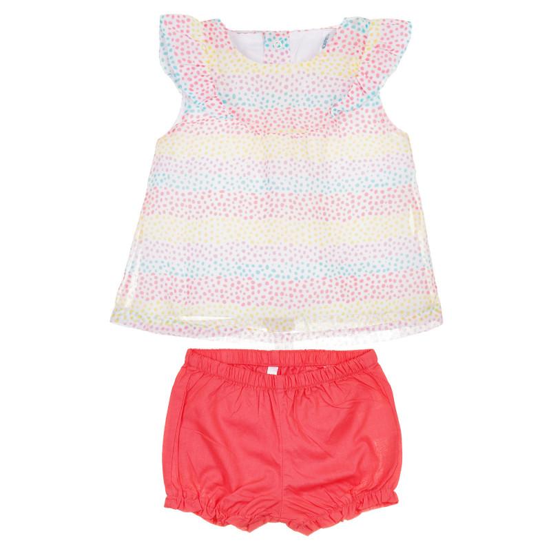 Set din tricou și pantaloni scurți din bumbac pentru bebeluș  239628
