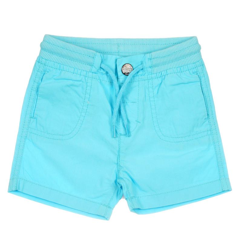 Pantaloni scurți din bumbac pentru bebeluș, albastru deschis  239646