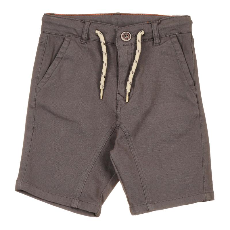 Pantaloni scurți din bumbac, pe gri  239658