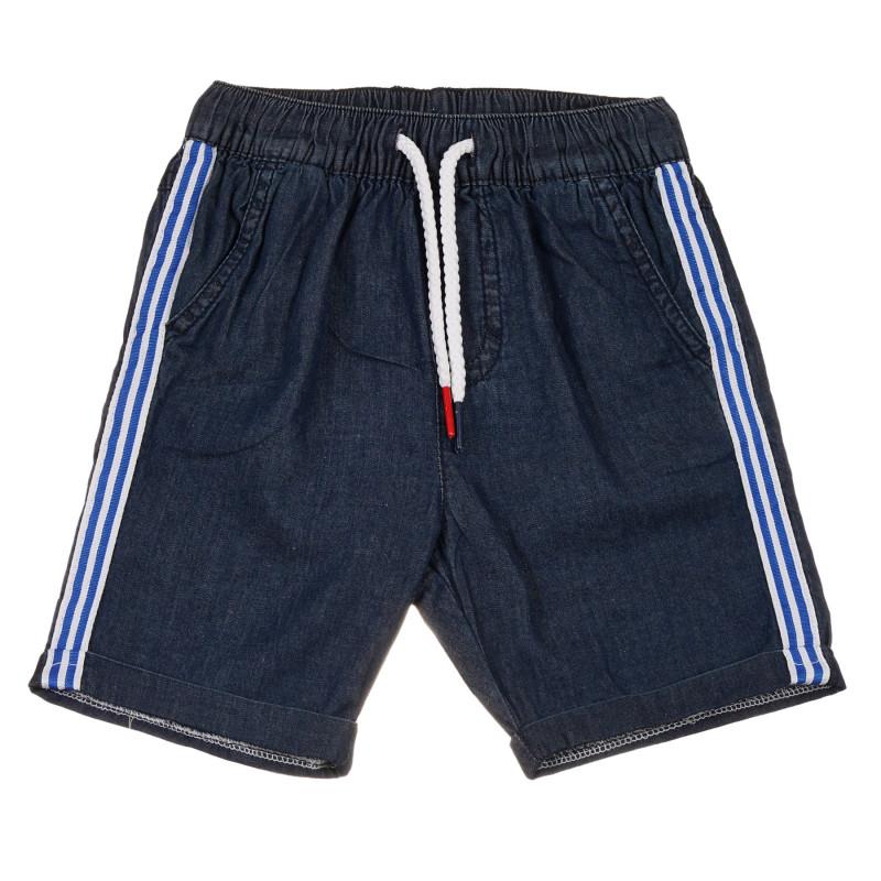 Pantaloni scurți din bumbac denim, albastru închis  239662
