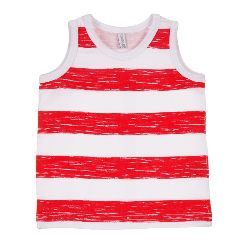 Maiou din bumbac, în dungi albe și roșii, pentru bebeluș  239702