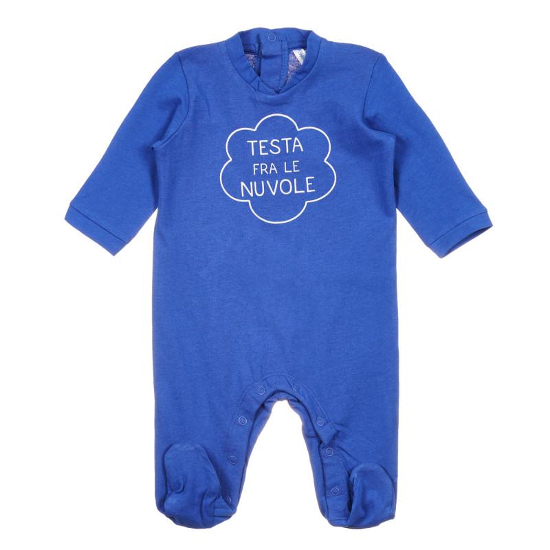 Salopetă din bumbac pentru bebeluș, albastră  239718