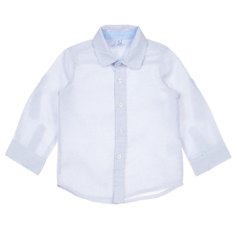 Cămașă din bumbac cu imprimeu figural pentru bebeluș, albastră  239752