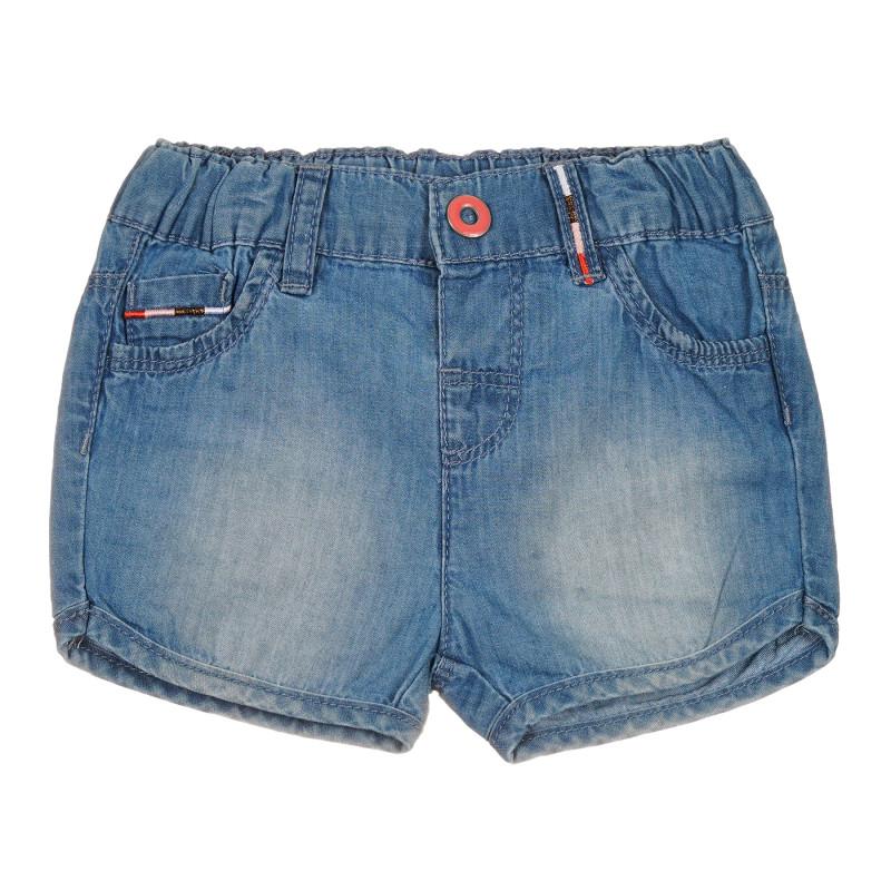 Pantaloni scurți din bumbac pentru bebeluș, albaștri  239760