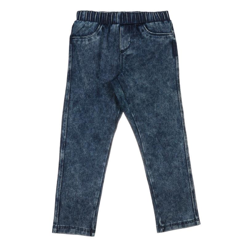 Jeans elastici din bumbac, albastru  239780