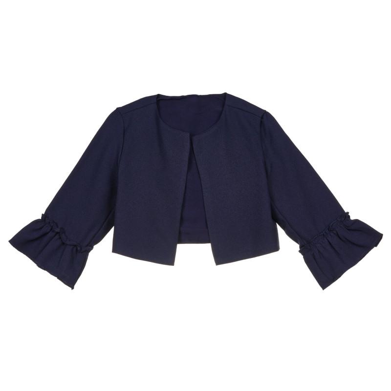 Cardigan cu mâneci spectaculoase, albastru  239844