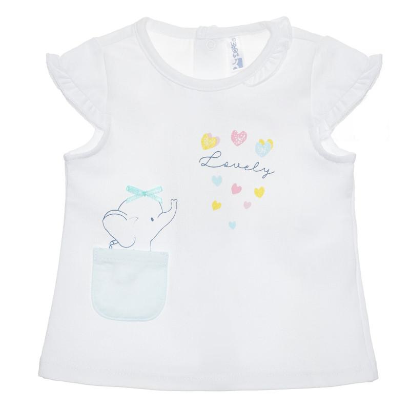 Tricou din bumbac Minunat pentru bebeluș, alb  239874