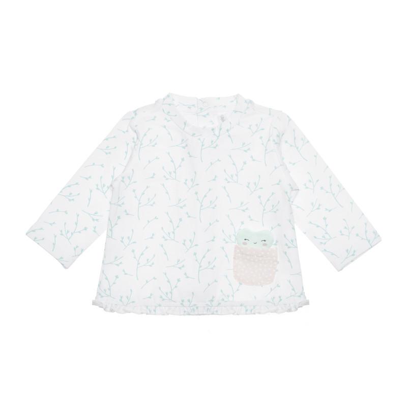 Bluză din bumbac pentru bebeluși cu decor inima, multicoloră  239882