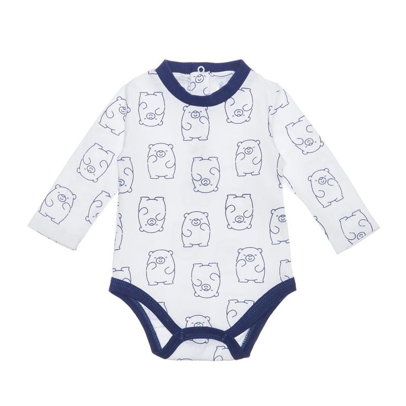 Body din bumbac cu imprimeu grafic pentru bebeluși  239902
