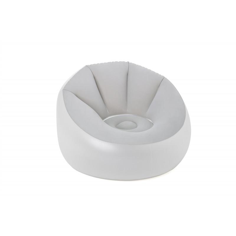 Fotoliu rotund gonflabil cu lumini LED Air Chair, 102 x 97 x 71 cm, gri  239992