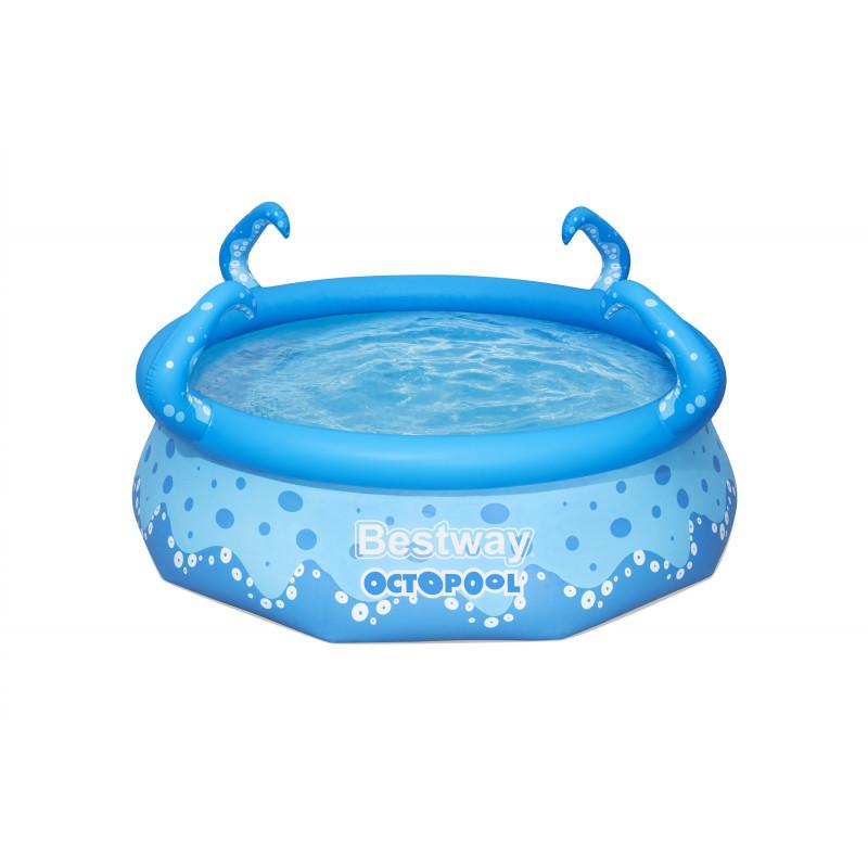Bazin gonflabil pentru copii OctoPool, 274 x 274 x 76 cm, 3153 litri, albastru  240026