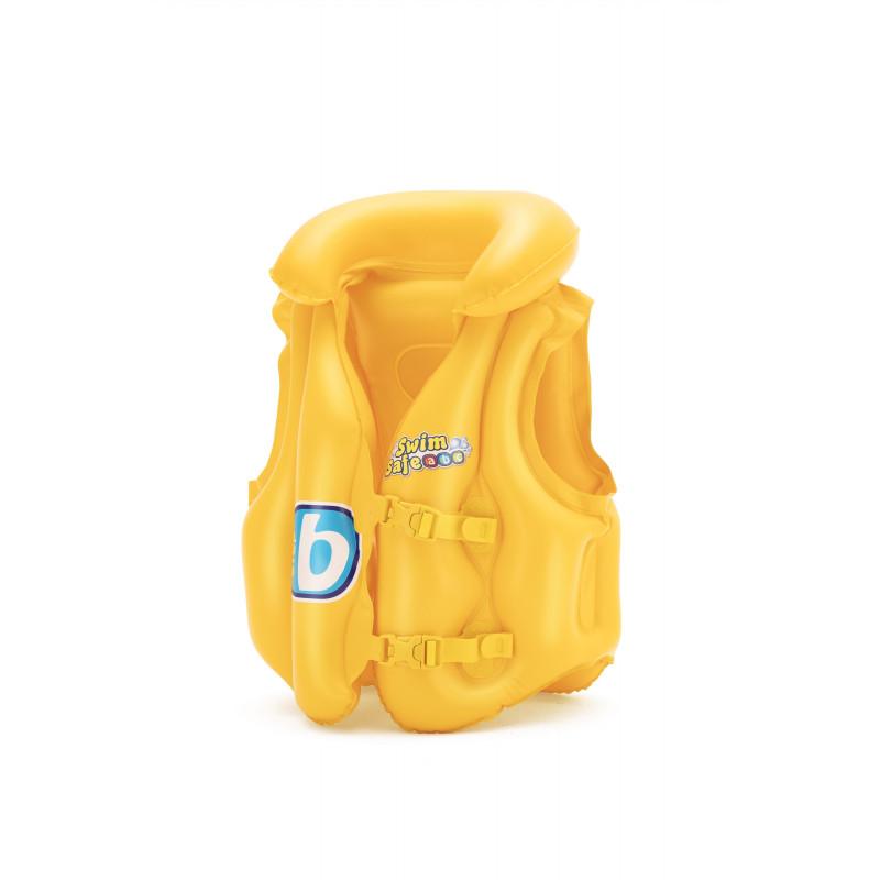 Vestă de salvare gonflabilă cu guler pentru copii Baby Vest Step B, 51 x 46 x 36 cm, portocaliu  240153