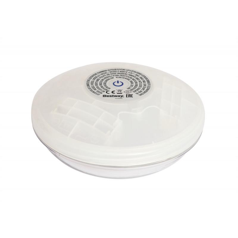 Lampă LED plutitoare pentru piscină Lumină plutitoare cu LED, 21 x 21 x 8 cm, albă  240158