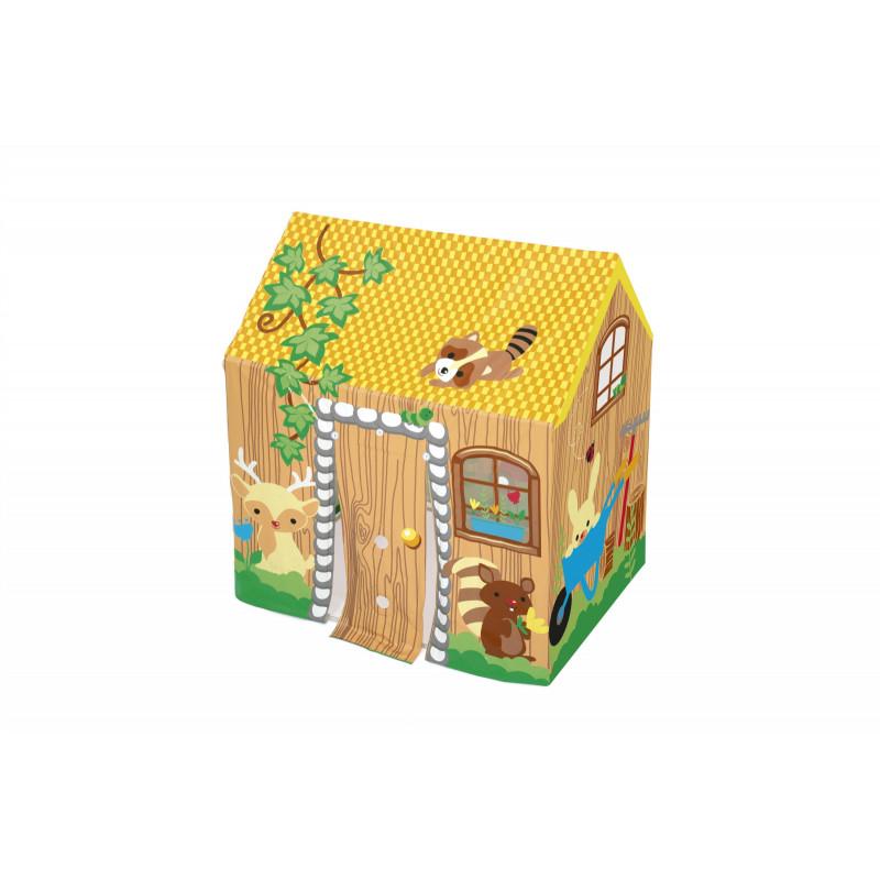 Casă de joacă pentru copii, 102 x 76 x 114 cm, multicoloră  240180