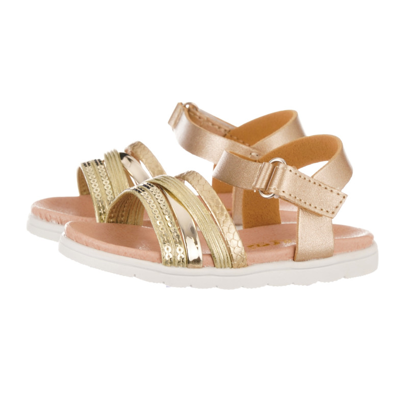Sandale cu paiete, aurii  240438