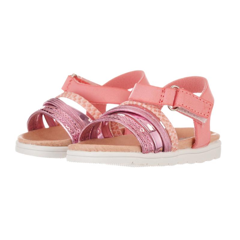 Sandale cu paiete, roz  240516