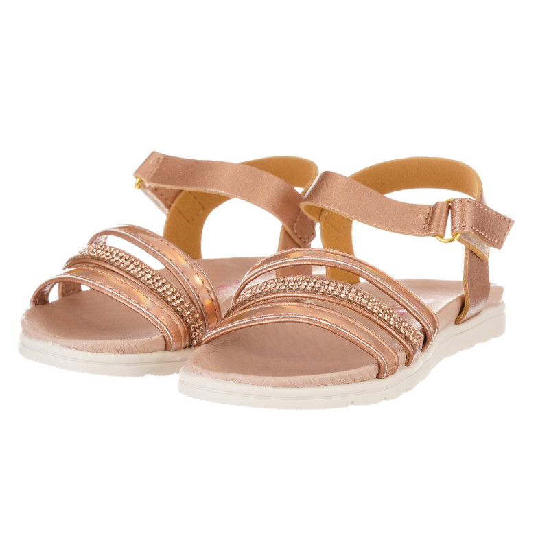 Sandale de culoare aurie  240519