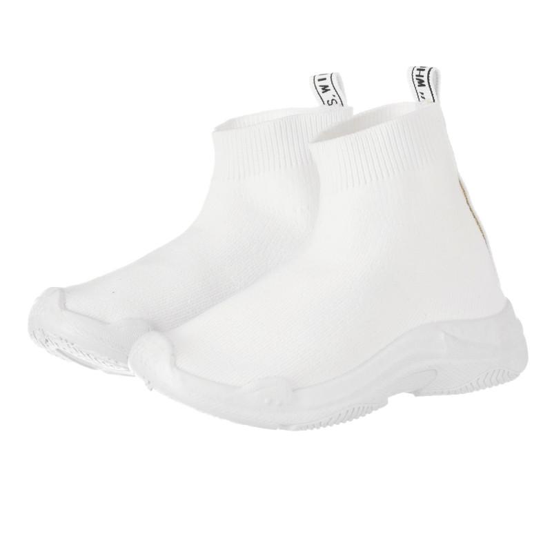 Teniși tip șosetă, culoare albă  240525