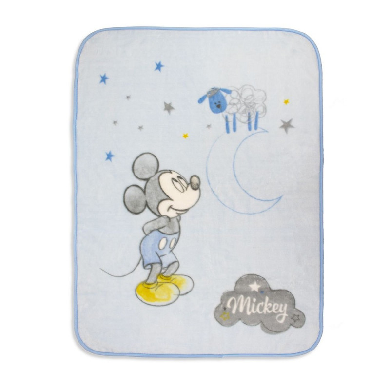 Pătură pentru bebeluși 140 x 110 cm Mickey Mouse, albastră  240530