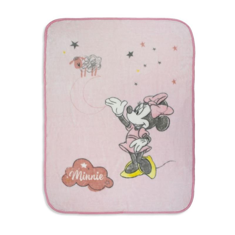 Pătură pentru bebeluși 140 x 110 cm Minnie Mouse, roz  240533