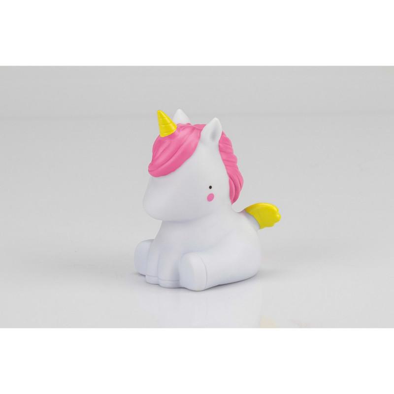 Lampă LED pentru copii Unicorn, 17 x 10 x 9 cm, albă  240590