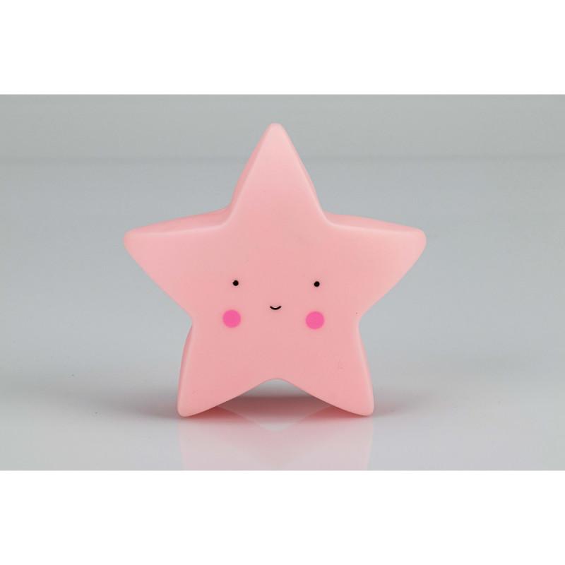 Lampă LED pentru copii Asterisk, 17 x 10 x 9 cm, roz  240593