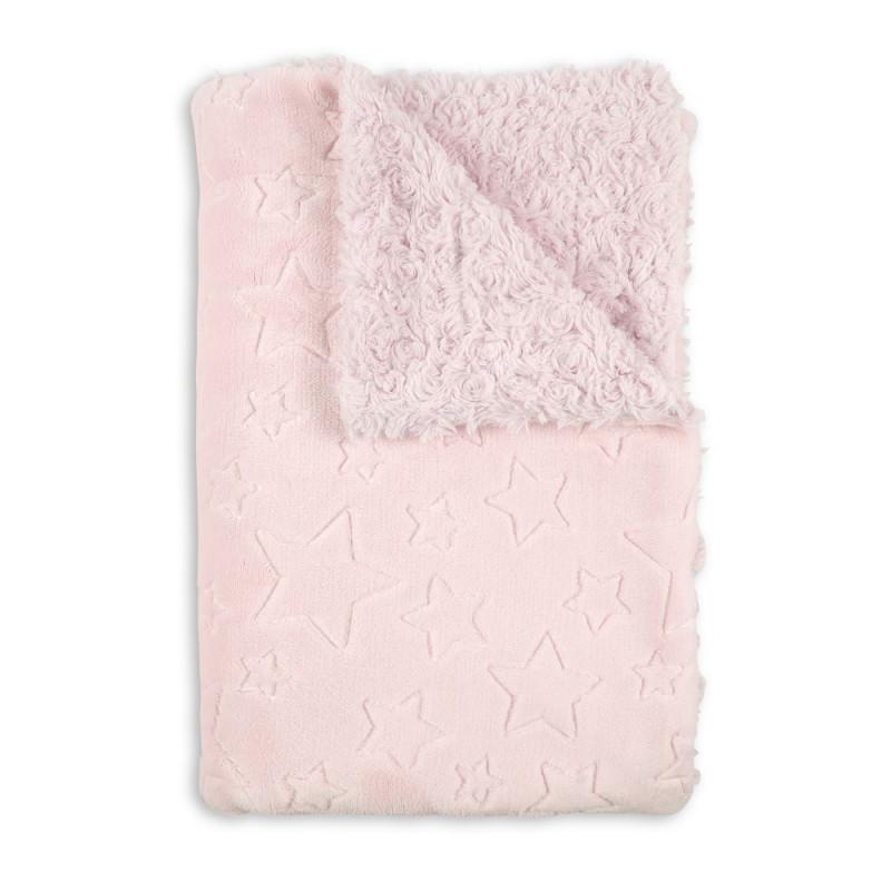 Pătură pentru copii 80 x 110 cm Stele, roz  240609