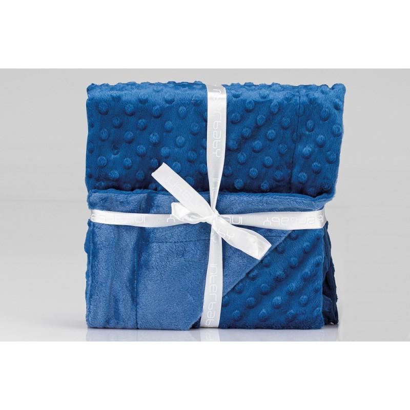 Pătură pentru bebeluși 80 x 110 cm Buline, albastru închis  240614
