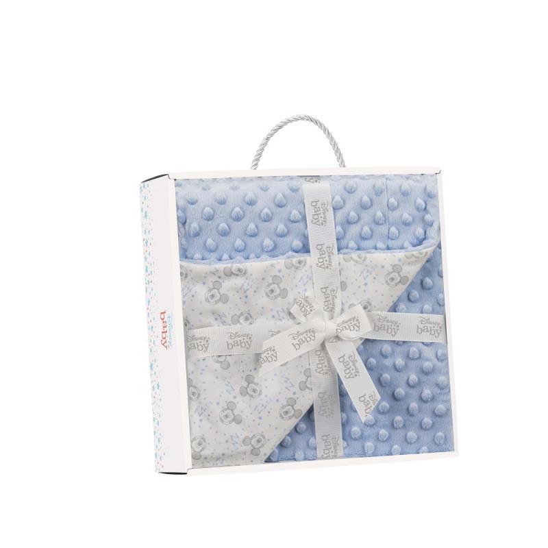 Pătură pentru bebeluși 80 x 110 cm Mickey Mouse, albastră  240622