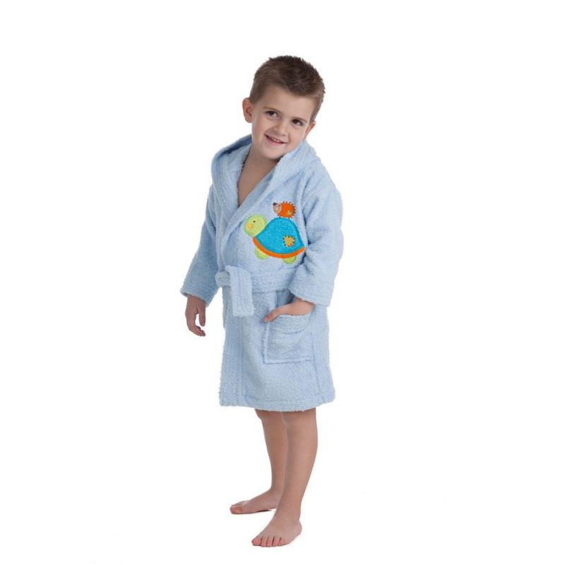 Halat de baie pentru copii, dimensiunea 6-8 ani, albastru  240630