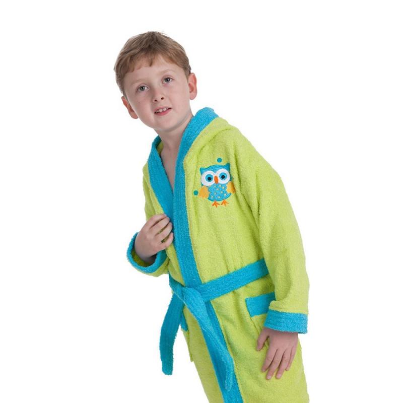 Halat de baie pentru copii, dimensiune 10-12 ani, verde deschis  240638