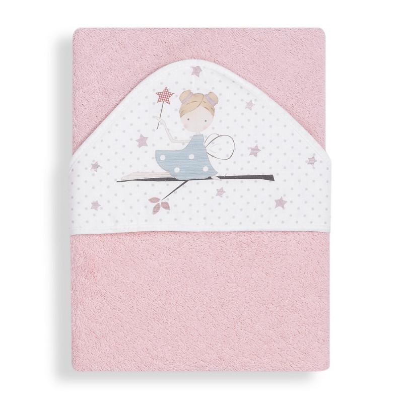 Prosop de baie pentru bebeluși VARITA MAGICA, 100 x 100 cm, roz  240647