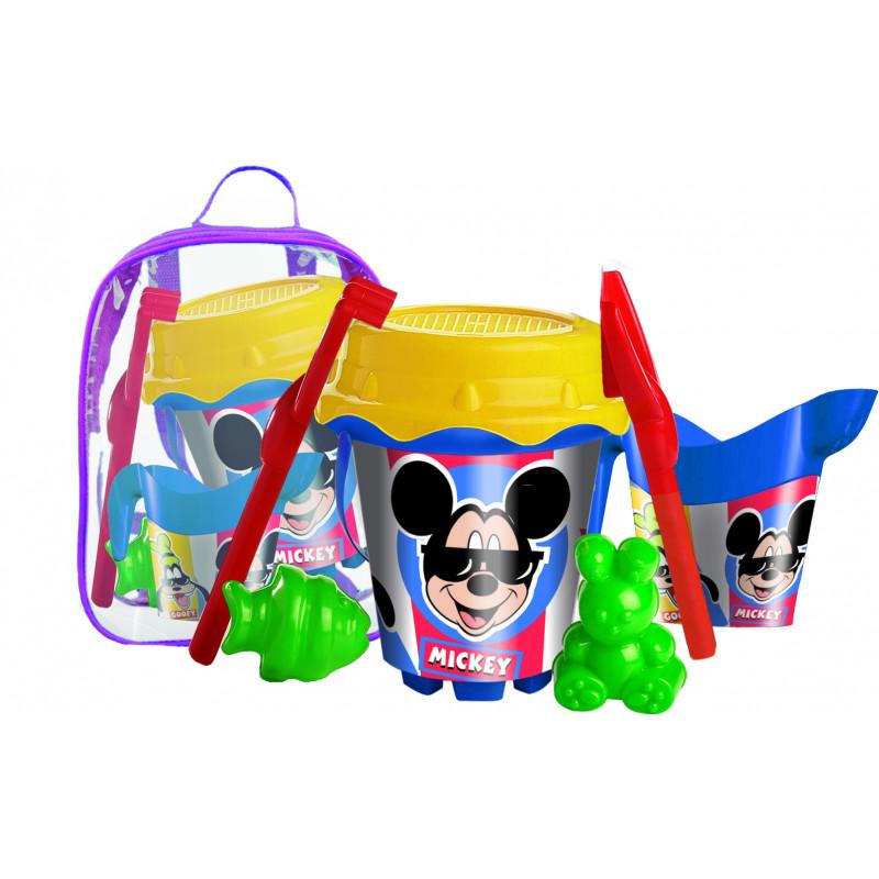Set de nisip în rucsac Mickey Mouse, 18 cm, multicolor  240790