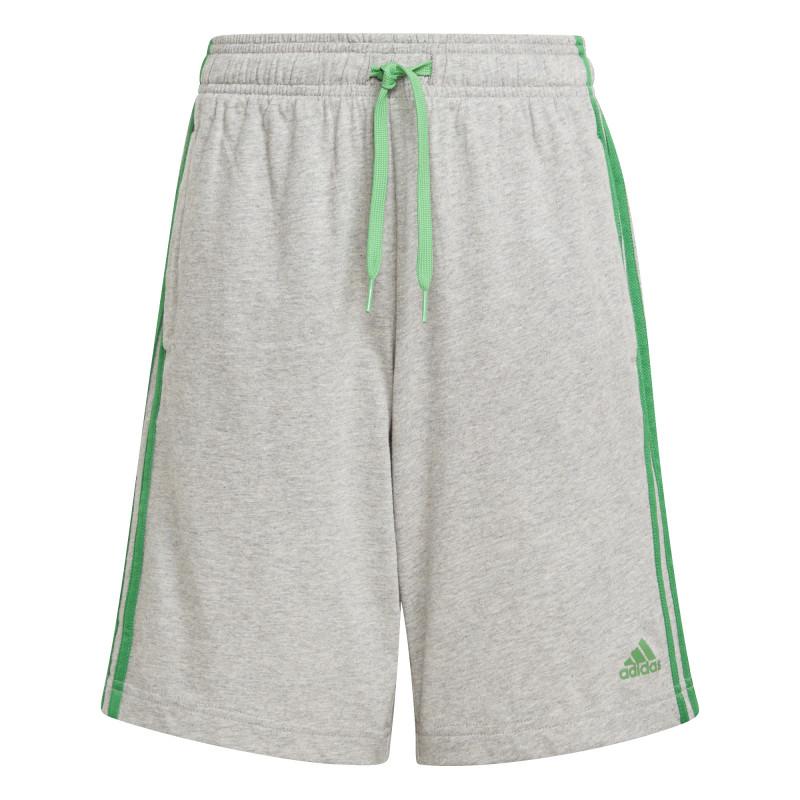 Pantaloni scurți din bumbac ESSENTIALS 3 STRIPES, gri  240847