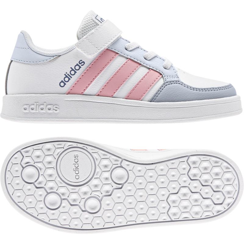 Teniși Adidas BREAKNET C, albi  240874