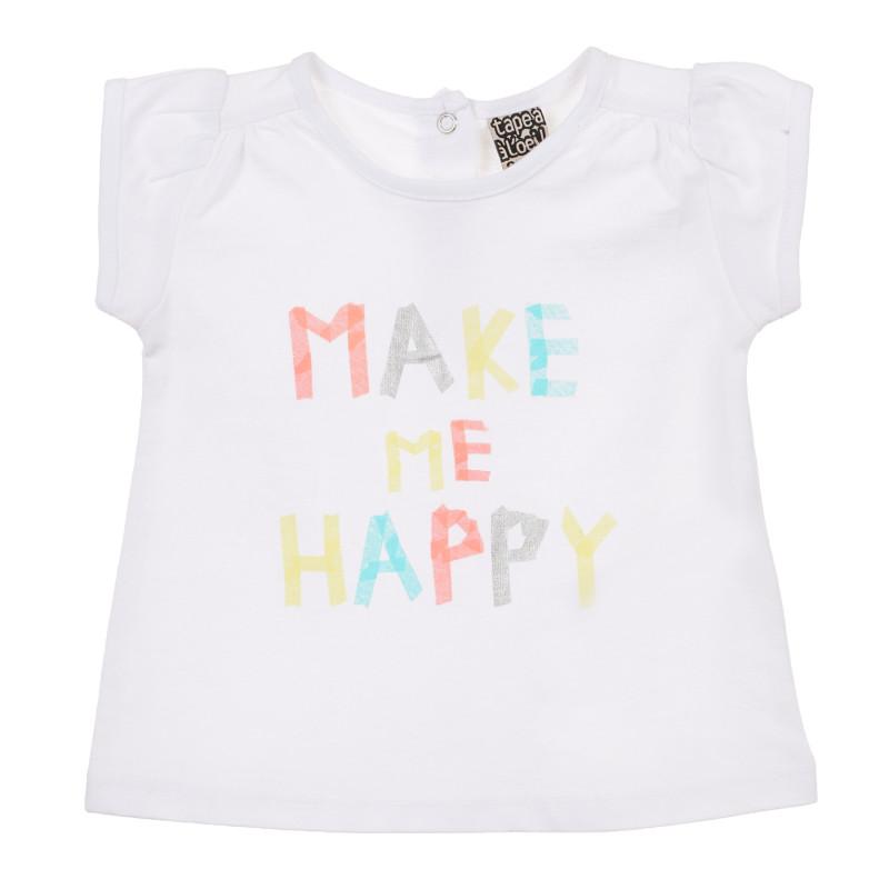 Bluză din bumbac pentru bebeluși, de culoare albă  241383