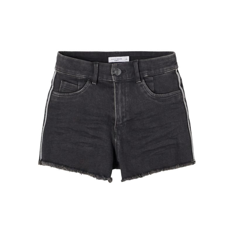 Pantaloni scurți din denim, în negru  242367