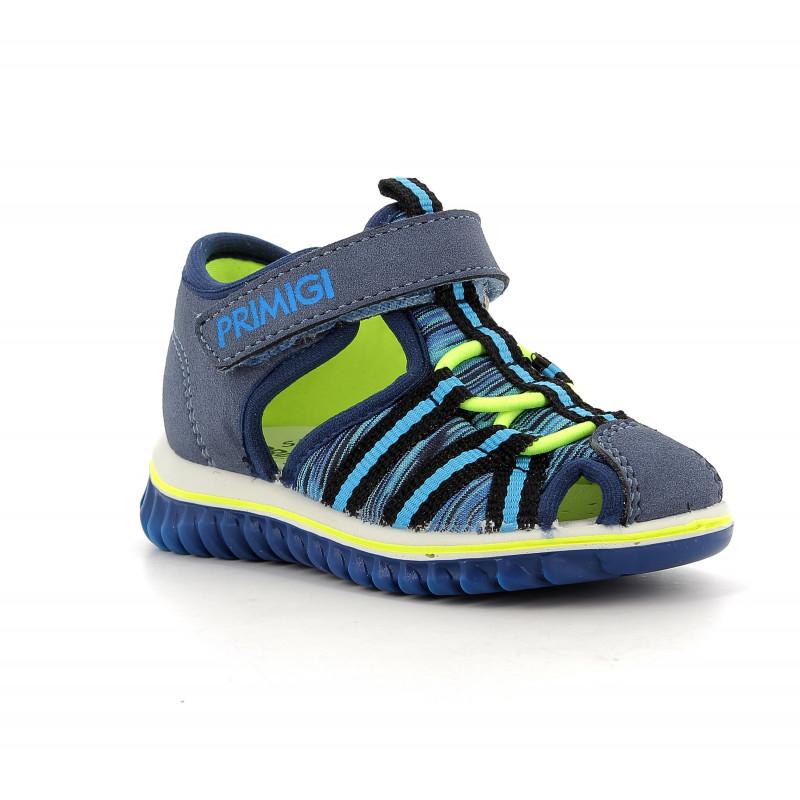 Sandale cu detalii verzi, în albastru închis  242423